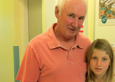 Ruby was fantastic support for her grandfather Barry. She did a sponsored silence at school, raising vital funds for which we are especially grateful.
